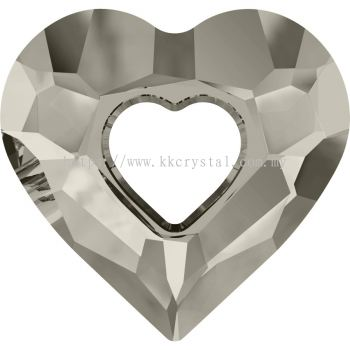 Swarovski 6262 Miss U Heart Pendant, 26mm, Crystal Satin (001 SATIN), 1pcs/pack