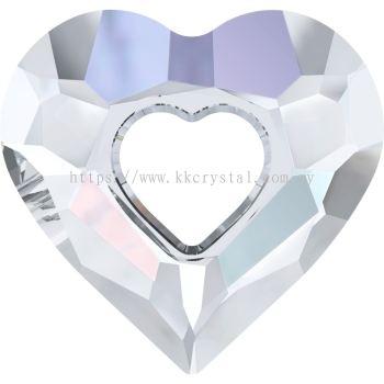 Swarovski 6262 Miss U Heart Pendant, 17mm, Crystal AB (001 AB), 1pcs/pack