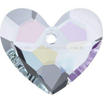 Swarovski 6264 Truly In Love Heart, 18mm, Crystal AB (001 AB), 1pcs/pack