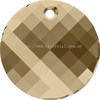 Swarovski 6621 Twist Pendant, 28mm, Crystal Golden Shadow (001 GSHA), 1pcs/pack