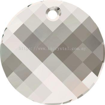 Swarovski 6621 Twist Pendant, 28mm, Crystal Silver Shade (001 SSHA), 1pcs/pack
