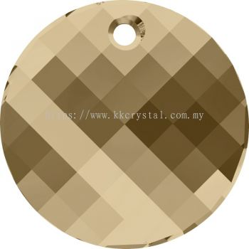 Swarovski 6621 Twist Pendant, 18mm, Crystal Golden Shadow (001 GSHA), 1pcs/pack
