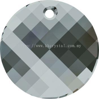 Swarovski 6621 Twist Pendant, 18mm, Black Diamond (215), 1pcs/pack
