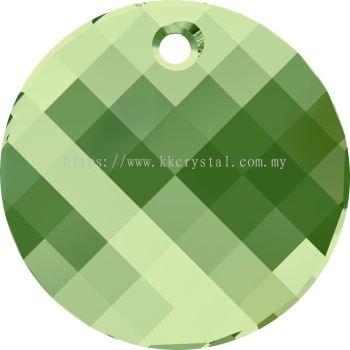 Swarovski 6621 Twist Pendant, 18mm, Peridot (214), 1pcs/pack