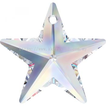 Swarovski 6714 Star Pendant, 20mm, Crystal AB (001 AB), 1pcs/pack