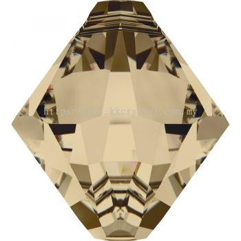 Swarovski 6328 Xilion Bicone Pendant, 08mm, Crystal Golden Shadow (001 GSHA), 4pcs/pack