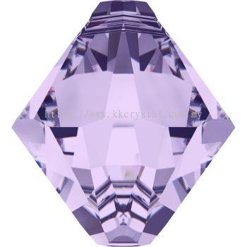 Swarovski 6328 Xilion Bicone Pendant, 08mm, Violet (371), 4pcs/pack
