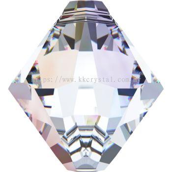 Swarovski 6328 Xilion Bicone Pendant, 08mm, Crystal AB (001 AB), 4pcs/pack