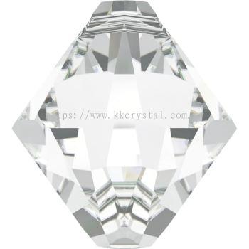 Swarovski 6328 Xilion Bicone Pendant, 08mm, Crystal (001), 4pcs/pack