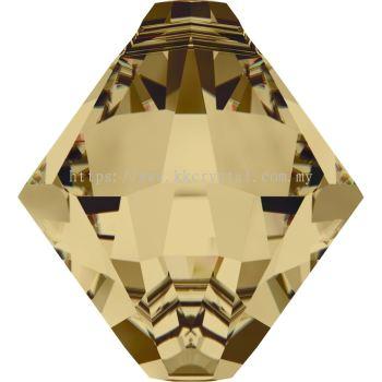 Swarovski 6328 Xilion Bicone Pendant, 06mm, Light Colorado Topaz (246), 6pcs/pack