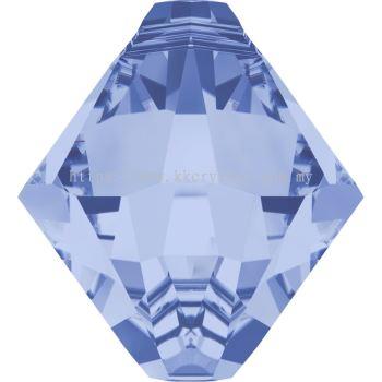 Swarovski 6328 Xilion Bicone Pendant, 06mm, Light Sapphire (211), 6pcs/pack