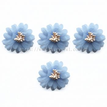 Handmake Flower, Code 85#, Color 33# Light Blue, 10pcs/pack