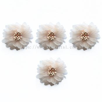 Handmake Flower, Code 85#, Color 34# Peach, 10pcs/pack