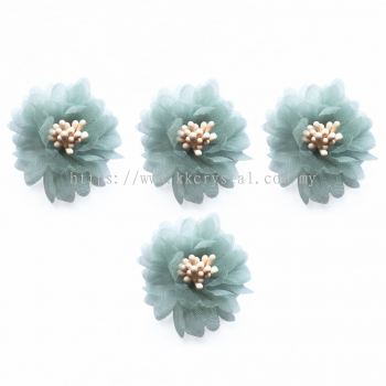 Handmake Flower, Code 85#, Color 66# Green, 10pcs/pack
