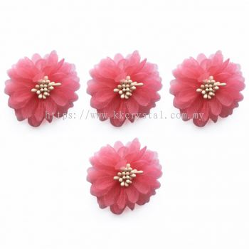 Handmake Flower, Code 85#, Color 111#  Padparadscha, 10pcs/pack