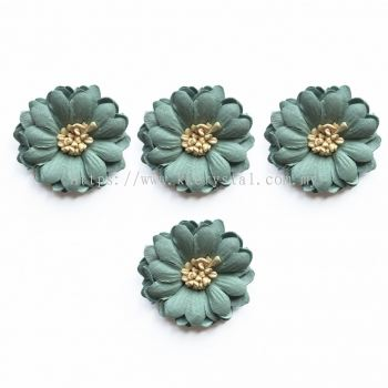 Handmake Flower, Code 87#, Color 66# Green, 5pcs/pack