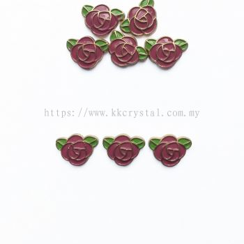 Iron On Metal, Code 18-05#, K4 Fuchsia, 50pcs/pack