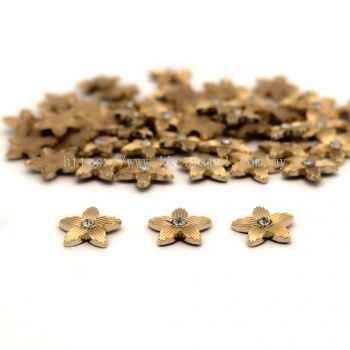 Iron On Metal, Code 18-09#, 25# Gold, 50pcs/pack