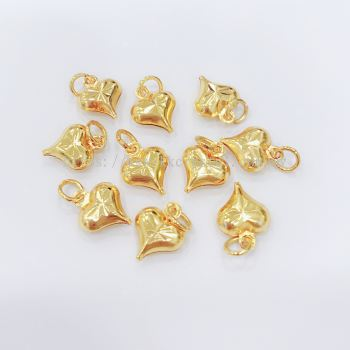 Charm, Love, 8mm, 0283051, White Gold Plated, Gold Plating, 10pcs/pack