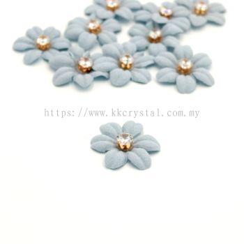 Handmake Flower, Code 89#, Color 33# Blue, 10pcs/pack