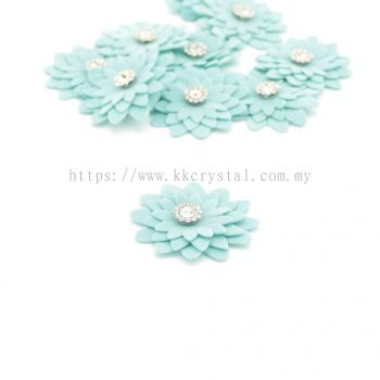 Handmake Flower, Code 90#, Color 33# Light Blue, 10pcs/pack