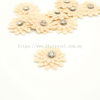 Handmake Flower, Code 90#, Color 36# Beige, 10pcs/pack