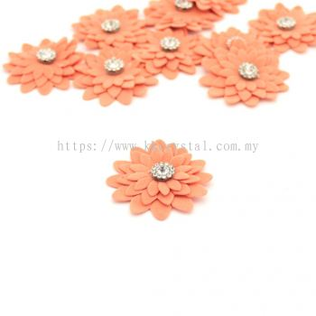 Handmake Flower, Code 90#, Color 64# Peach, 10pcs/pack
