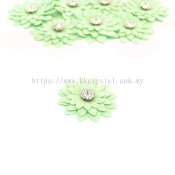 Handmake Flower, Code 90#, Color 66# Light Green, 10pcs/pack