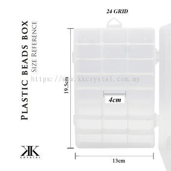 013109, Plastik Portable Beads Box, 24GRID