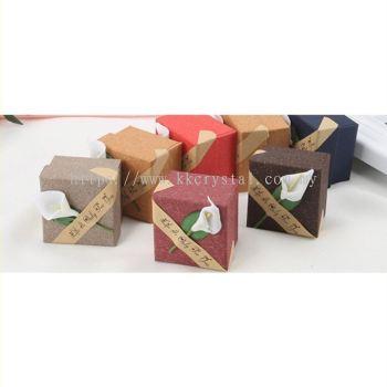 3D Flower, Jewerly Box, Ring Box, Brooch Box, Earring Box, 5x5cm,  080156