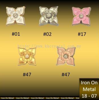 Iron On Metal, CODE: 18-07#, 50PCS IRON ON METAL HOTFIX, MANIK/BESI TAMPAL