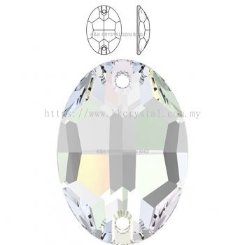 SWAROVSKI, OVAL SEW-ON STONE, 3210#, 10*7MM/16*11MM/24*17MM, 001 AB