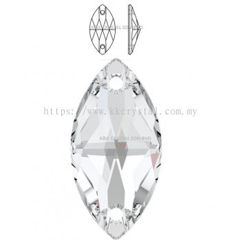 SWAROVSKI, NAVETTE SEW-ON STONE, 3223#, 12*6MM/18*9MM, 001 CRYSTAL