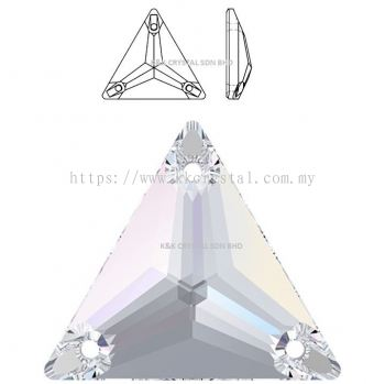 SWAROVSKI, TRIANGLE SEW-ON STONE, 3270# , 16MM/22MM, 001 AB