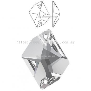 SWAROVSKI, COSMIC SEW-ON STONE, 3265#, 001 Crystal, 20x16mm, 1pcs