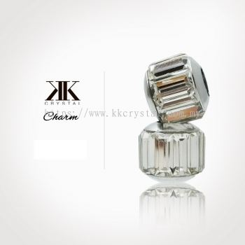 180301 Charm, 001 Clear White, 4pcs:pack