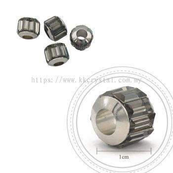 180301 Charm, 215 Black Diamond, 4pcs:pack