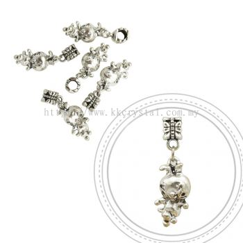 Dangle Charms, D28, Plated, 5pcs:pack