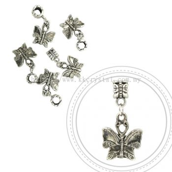 Dangle Charms, D10, Plated, 5pcs:pack