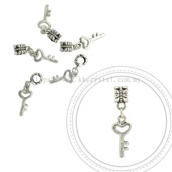 Dangle Charms, D17, Plated, 5pcs:pack