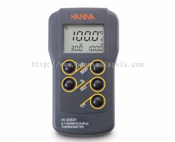 HI93531 0.1�� Resolution K-Type Thermocouple Thermometer with High/Low Limit Display