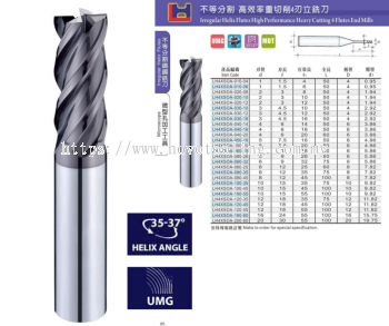 4 Flutes Carbide End Mill Series