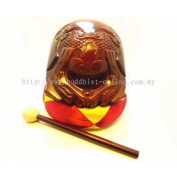 18吋 . 紅木木魚(不含棉墊)(I0608)