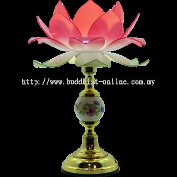 一球菩提蓮花燈 . 一對 . 大款( 大花瓣 )(F0648)