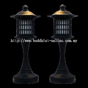 1呎6 . 古典黑色日式普照燈 . 一對 . 大款 { 加重 }(F0040)