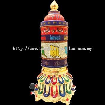 彩繪電動五方財神轉經輪 (I1120)
