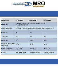 Calibration Blocks for Metric Thread Testing
