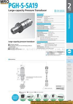 Large-capacity Pressure Transducer PGH-S-100MPSA17