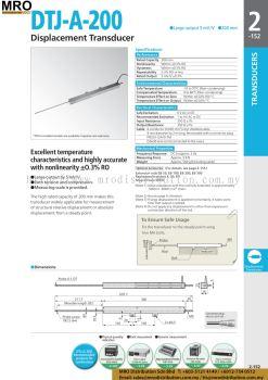 Displacement Transducer DTJ-A-200