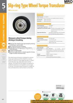 Slip-ring Type Wheel Torque Transducer